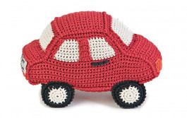 Knuffel Auto Anne Claire Petit, rood