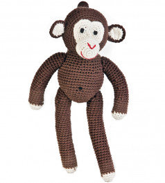 Anne-Claire Petit knuffel Aap, Choco-3