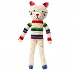 Anne Claire Petit knuffel Kat, Mix Stripe-3
