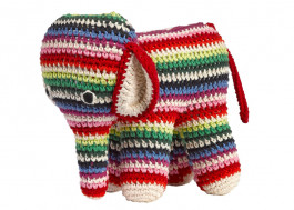 Olifant knuffel Anne Claire Petit - Mix Stripe