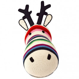 Knuffel Rendierkop Anne-Claire Petit, Mix Stripe