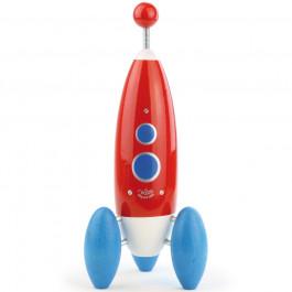 Speelgoed raket van hout - Vilac uit Frankrijk - handgemaakt.
