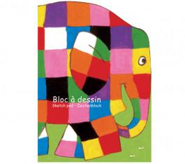 Tekenblok Elmer de Olifant met 60 vellen wit tekenpapier