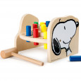 Houten hamerbank Snoopy en Woodstock